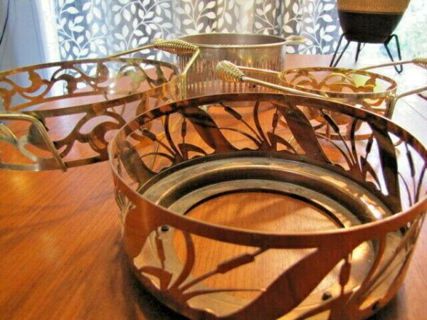 Lot of 4 Vintage Casserole Dish Metal Carriers Serving Stands Holders $19.99
