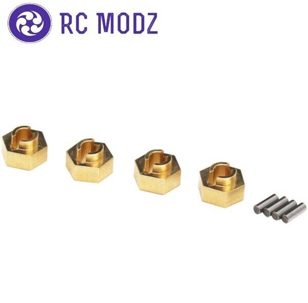 Hot Racing Brass Stock Wheels 7mm Hex Hub Axial SCX24 SXTF10H