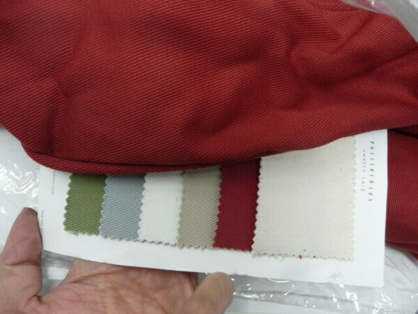 Pottery Barn Comfort Ottoman Slipcover Red Twill 24x30 $89.00