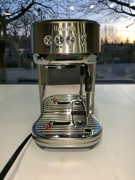Breville BES500 Stainless Steel Bambino Plus Instant On Espresso Machine USED
