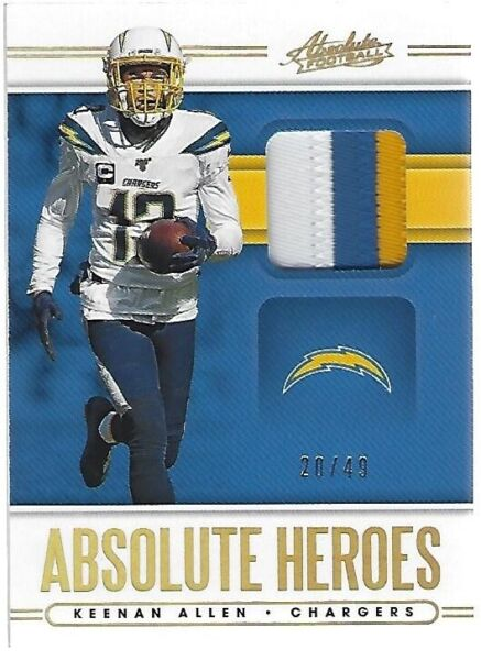 2020 Absolute Heroes Keenan Allen 3 Color Jersey Patch #ed 20 49 $19.99