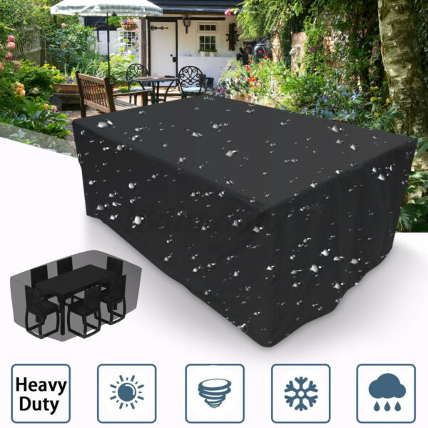Waterproof Dustproof Patio Furniture Covers Rectangle Table Rain Cove $21.20
