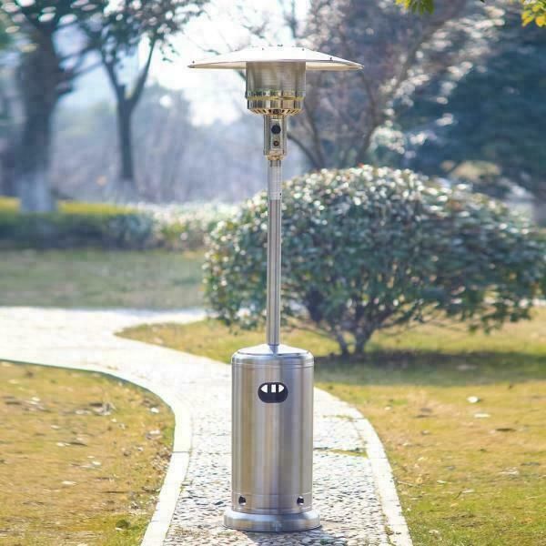 Hampton Bay Patio Heater 48000 BTU Propane Stainless Steel Outdoor Heating NEW