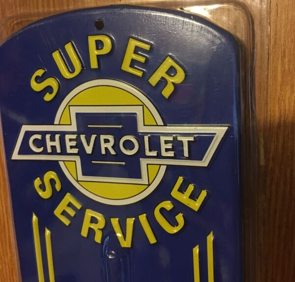 CHEVROLET THERMOMETER CHEVY PARTS GAS amp; OIL THERMOMETER METAL SIGN SHOP MAN CAVE $16.95