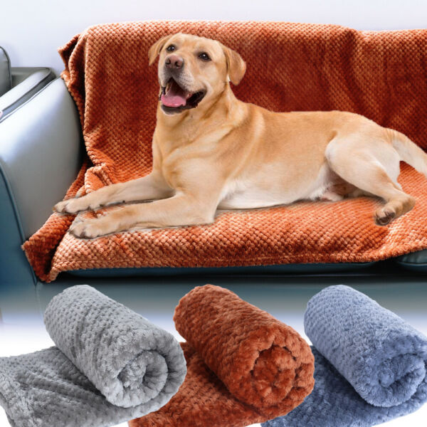 Fleece Dog Blankets for Large Dogs Soft Warm Dog Bed Pet Throw for Dogs amp; Cats $13.99