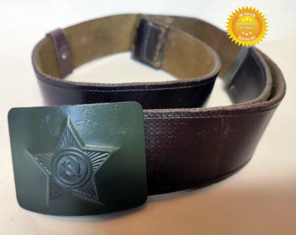Uniform Belt Buckle Brown Original Dated Soviet Russian Army 413quot; 105 cm Used