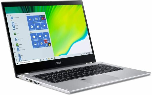 Acer Spin 3 14quot; Laptop Intel Core i5 1035G1 1GHz 8GB Ram 256GB SSD Win 10 Home
