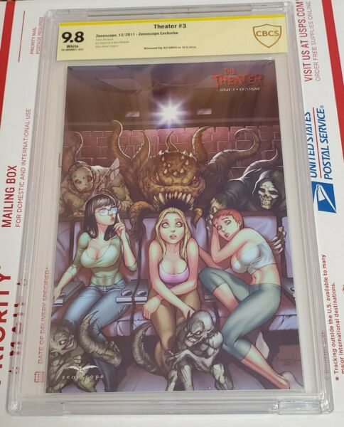 The Theater #3 Zenescope Exclusive CBCS 9.8 not CGC Signed by Ale Garza