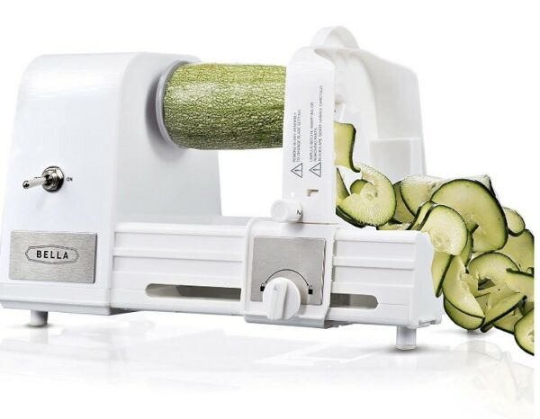 BELLA 4 in 1 Electric Spiralizer with Recipe Book White