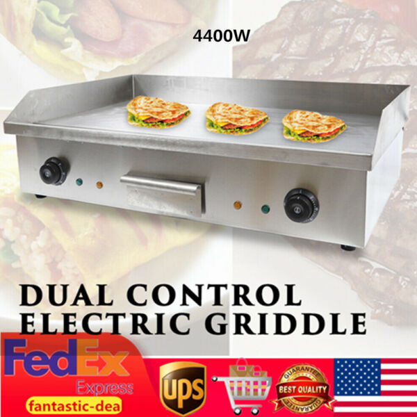 Electric Griddle Flat Top Grill 4400W Hot Plate BBQ Countertop Commercial Grill