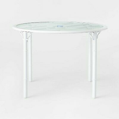 Pomelo 4 Person Round Patio Dining Table White Opalhouse $63.99