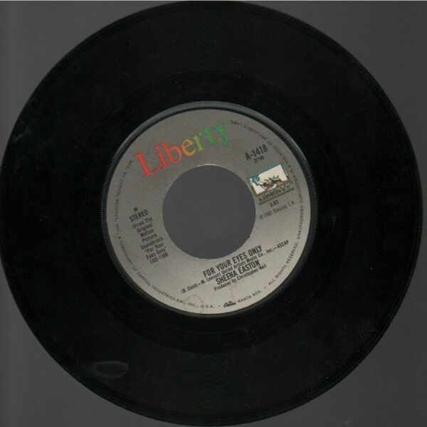 SHEENA EASTON FOR YOUR EYES ONLY 45 record $1.75
