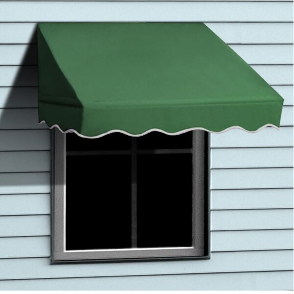ALEKO Window Awning Door Canopy Decorator 6x2ft Sun Rain Shade Shelter Green