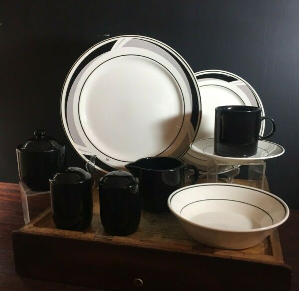 Nikko Tablemates Black Triad Dinnerware Various Pieces Sold by Piece