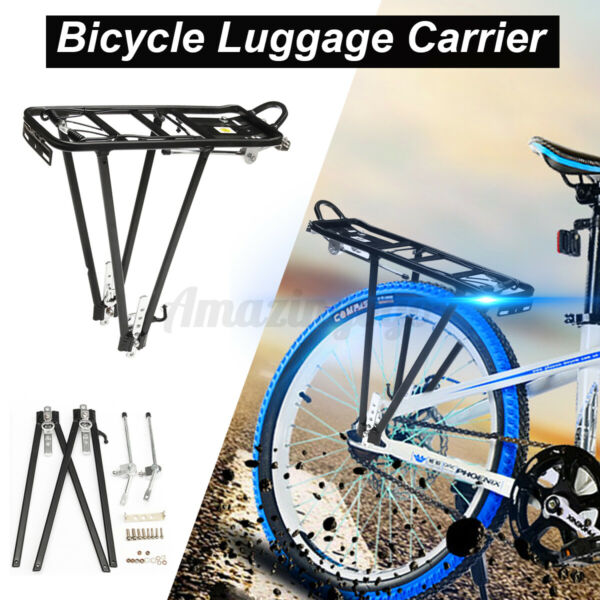 Mountain Bike Bicycle Rear Rack Seat Post Mount Pannier Luggage Carrier Alloy US $21.36
