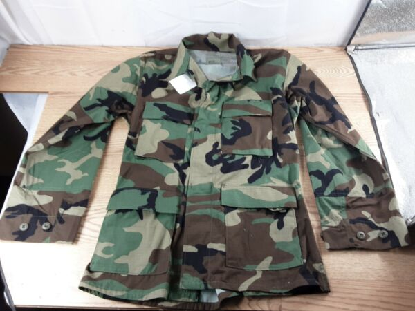 U.S.Army Military Woodland Camo Combat Jacket Size Large Extra Long NWT NEW