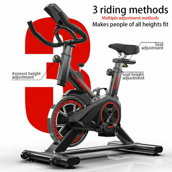 Stationary Exercise Bike Indoor Cycling Bicycle Cardio Fitness Gym Workout W LCD $159.00
