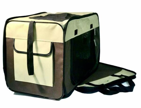 Soft Pet Carrier Folding Dog Cat Animal Travel Cage Bag Portable Crate Box NEW $19.99