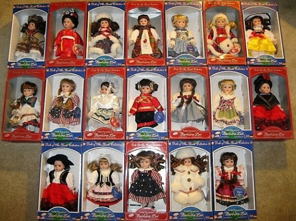 2 Porcelain #x27;Dolls of the World#x27; Barbara Lee Collection NIB You Choose 2