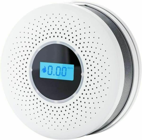 Smoke Detector and Carbon Monoxide Detector Alarm with LCD Display Auto Check $19.95