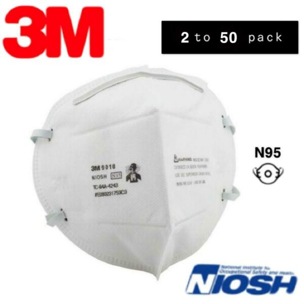 5 10PCS 3M 9010 N95 Protective Disposable Face Mask Cover N95 NIOSH Approved