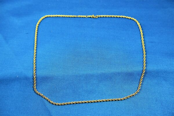 14K GOLD 18quot; Rope Chain Necklace 3.5 Grams 14kt Safety Latch $140.00