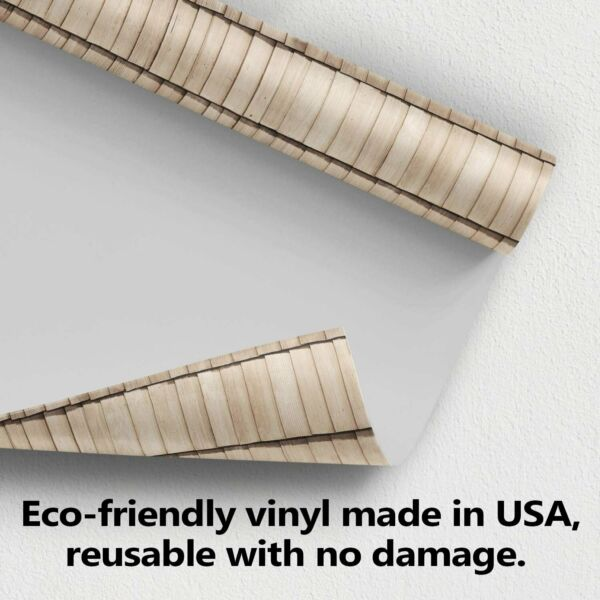 Wood Bricks Effect Wallpaper For House Decoration Wall Decal. Removable. $7.99