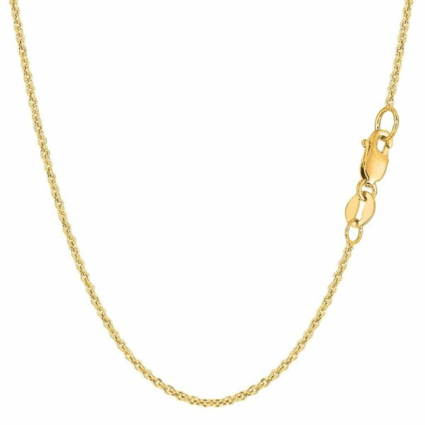 14k Yellow or White Gold 1.5mm Hollow Forsantina Cable Necklace Chain 16quot;18quot; 20 $139.99