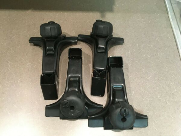 Thule 300 roof rack foot pack for gutter vehicles set of 4 Nice shape car bike $115.00
