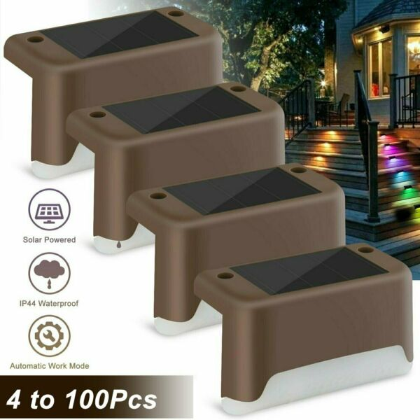 Outdoor Solar LED Deck Lights Path Garden Patio Pathway Stairs Step Fence Lamp $19.69