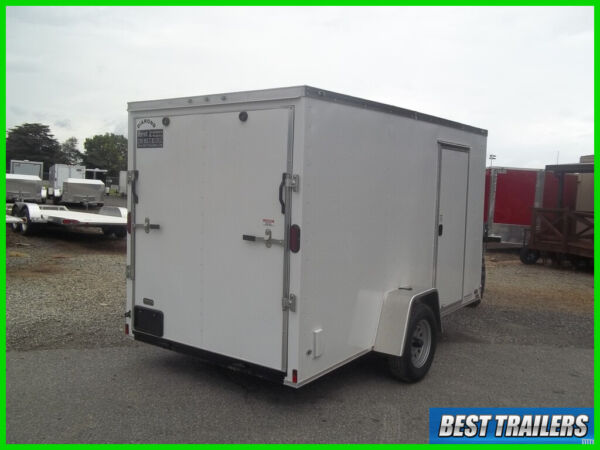 2020 6x 12 enclosed cargo uitility motorcycle trailer white standard v nose ramp $2695.00