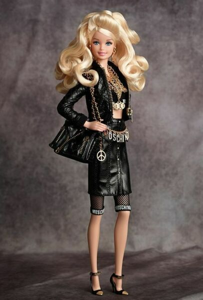 #CHX10 BARBIE COLLECTOR GOLD LABEL 2015 MOSCHINO BARBIE DOLL 489 $580.00