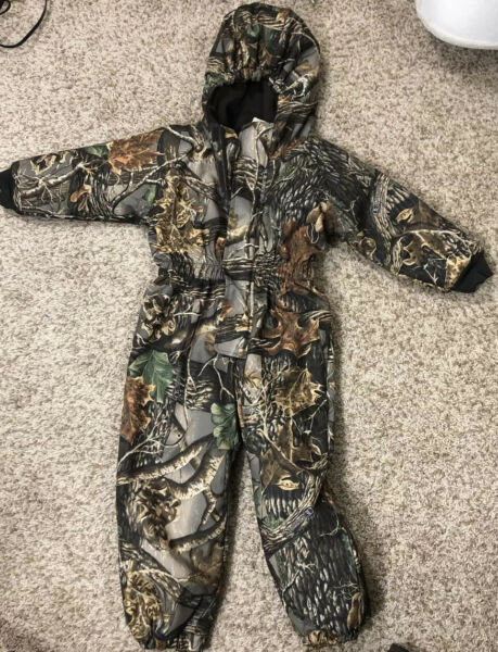 Cabelas Toddler Hunting Camo Coveralls Insulated Size 2T
