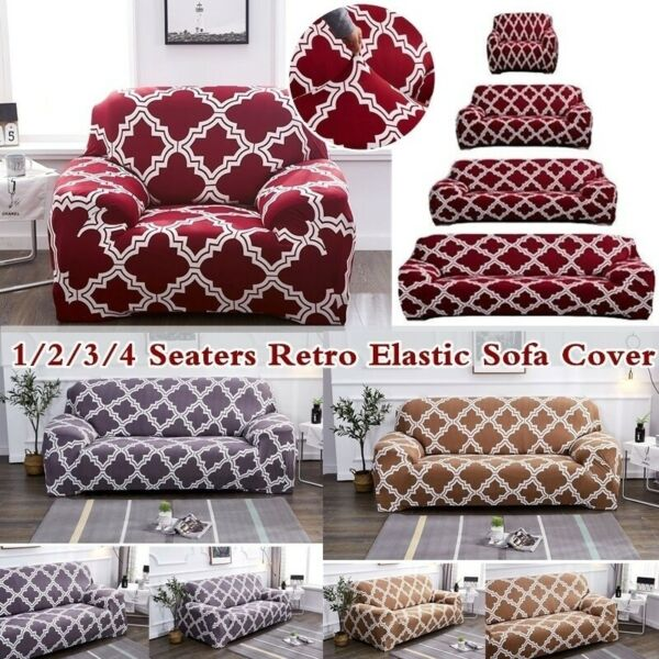 1 2 3 Seaters Lounge Couch Sofa Cover Slipcover Recliner Protector Stretch Fit $21.60