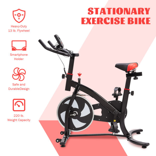 Indoor Cycling Bike Exercise Equipment w Adjustable Seat Handlebar for Home Gym $165.39