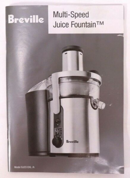 Breville Fountain Juicer BJE510XL MANUAL