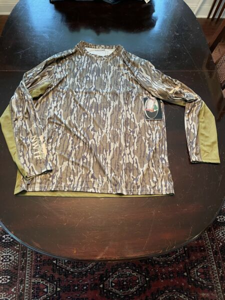 Nomad Nwt Men#x27;s Cooling Tee Mossy Oak Bottomland XL NWTF Badge $34.99