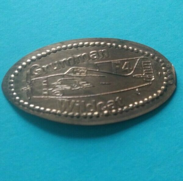GRUMMAN WILDCAT F4 Carrier Based Fighter Aircraft F4F Elongated Wheat Penny $2.95
