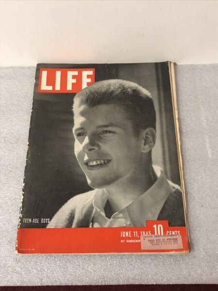 LIFE Magazine June 11 1945 WWII Teen Age Boys Vintage Ads