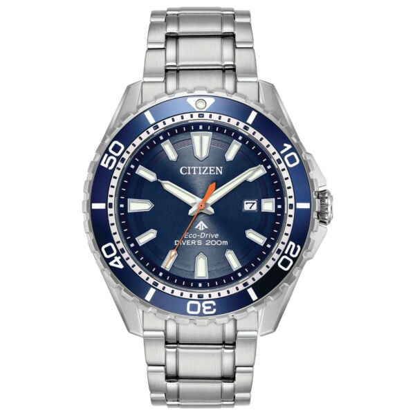 Citizen Eco Drive Promaster Diver Men#x27;s Date Display 45mm Watch BN0191 55L