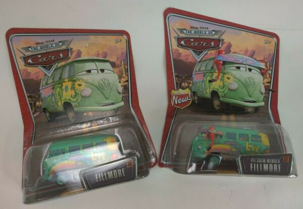 Disney Pixar The World of Cars Die Cast Pit Crew Member Fillmore Lot of 2 #3738