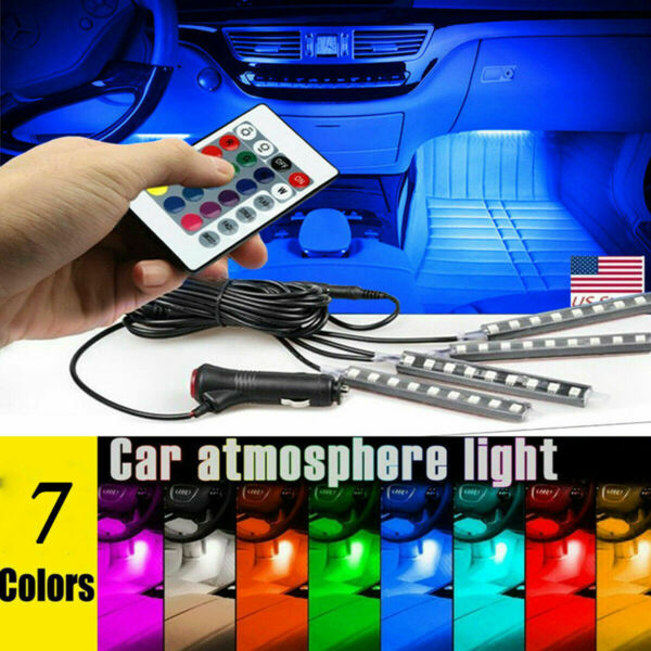 LED Car USB Charge Interior Accessories Floor Decorative Atmosphere Lamp Light $11.99