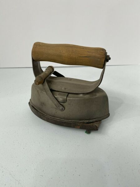 Antique Iron With Wood Handle