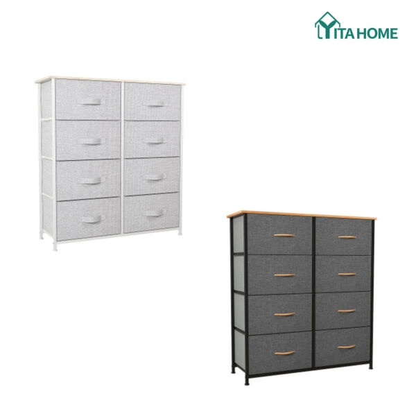 YITAHOME 8 Drawer Chest of Storage Drawer Dresser Furniture Bedroom Organizer $87.40