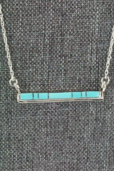 Turquoise amp; Sterling Silver Necklace Rolanda Natachu