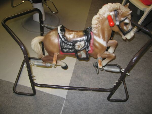 antique spring rocking horse for display or retail window or photographer#x27;s prop