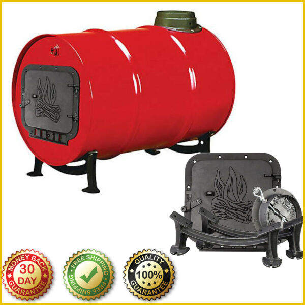 BARREL CAMP STOVE KIT Cast Iron BSK1000 Convert 30 55 Gal Drum Into Wood Stove $65.99