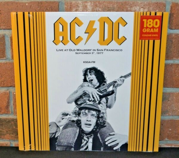 AC DC Live In San Francisco 1977 Ltd Import 180G RED COLORED VINYL LP New