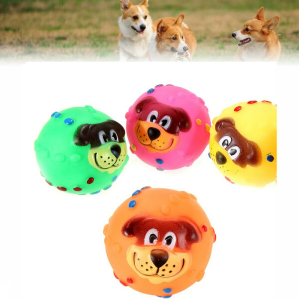 cat Funny Durable Soft Chew Squeaker Rubber Dog Dog Ball Pet Supplies Pet Toys $6.08