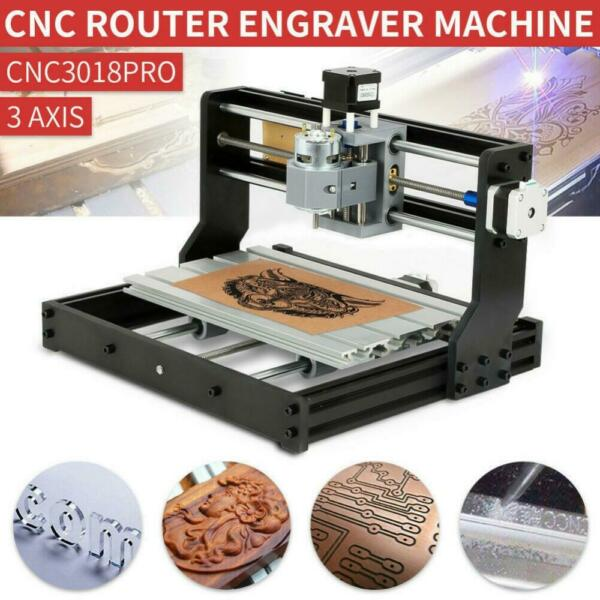 CNC 3018 PRO Engraving Machine Mini DIY Wood Router GRBL Control w 2500mw Laser $142.09